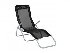 svart vippstol i stål och textil